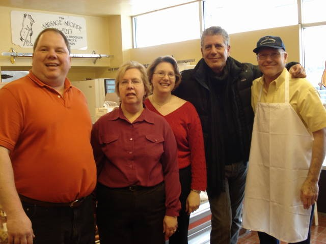 L-R: Al Heinle, Carol Heinle, Renee (Heinle) Close, Anthony Bourdain, Norm Heinle